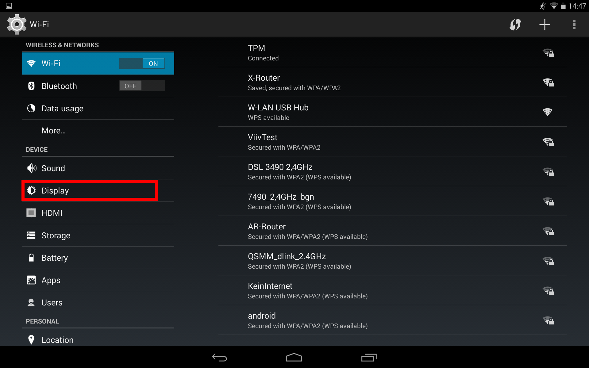Step 1: Open the settings menu on your smartphone/tablet